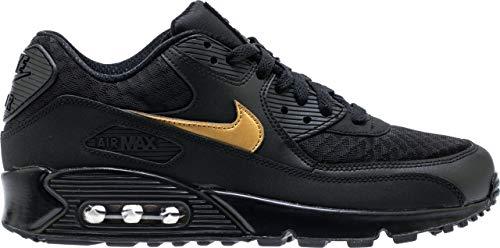 Nike Mens Air Max 90 Lifestyle Shoes (9) Black/Metallic Gold
