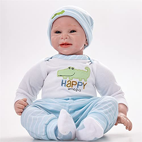 YANRU Reborn Baby, 22 In/55 cm Lifelike Reborn Baby Dolls, Can't Speak,Can't Wink Reborn Baby - Give Your Kid or Friend Unforgettable Memory on Special Days