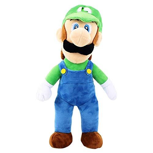 Big Size 38cm Super Mario Bros Knuffel Mario Luigi Yoshi Dragon Soft Gevulde Poppen, Luigi