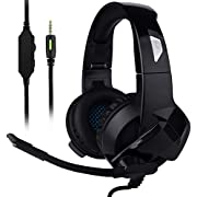 Ceppekyy Gaming Headset for Xbox One,PS4,PC,Noise Cancelling Over Ear Headphones with Mic&Stereo Surround Sound for Laptop Mac Nintendo Switch Games