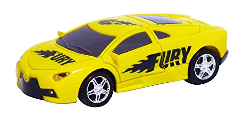 As Seen On TV RC Pocket Racers Remote Controlled Micro Race Cars Vehicle, Fury Yellow