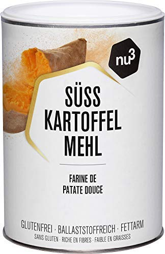 nu3 Farine de patate douce 500g - Alternative vegan sans gluten à la farine de blé - Riche en fibres végétales - Convient au régime paléo - Seulement 2% de matière grasse - 100% patate douce du Pérou
