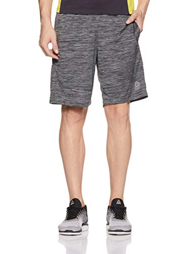 Reebok Men's Workout Ready Knitted Shorts, (Dark Grey Heather), M