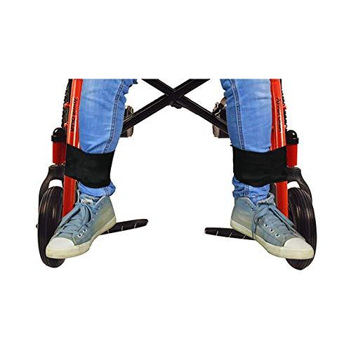 QEES 2 Pieces Wheelchair Footrest Leg Restraint Strap, Wheelchair Seat Belt Medical Safety Transport Foot Support Belt for Elderly & Seniors, Handicap Accessory