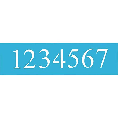 DecoArt 6-Inch-by-18-Inch Stencil Home Decor Series, 5-Inch Times New Roman Numbers