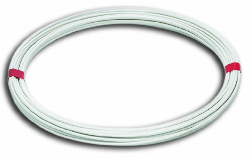 Chapuis FIL20 Hilo para tender de acero plastificado - Diámetro exterior 2,7 mm - Largo 20 m - Blanco