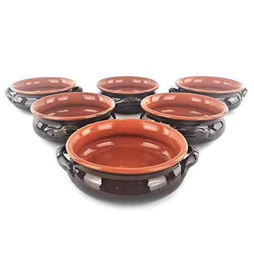 Set 6 TEGAMI Apulia in Terracotta - 6 Ciotole con Manici Ø 14 o 17 cm - Colì (Ø cm 14)