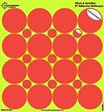 Splatterburst Zielscheiben, 10 Stück, 5,1 cm Stick & Spritzer, selbstklebend, reaktiv, rote Bullseyes, Pistole, Airsoft, BB Pistole, Pelletpistole, Luftgewehr