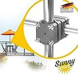 Sonnenschirmhalter Balkongeländer - Sunnyman, der Solide - Platzsparender Balkon Schirmhalter für...