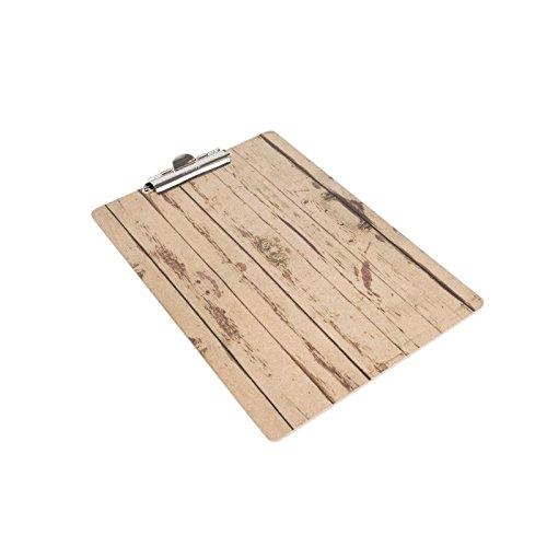 Holz Effekt A5Menu Präsentation Klemmbrett 240x 160mm Küche Esszimmer Geschirr