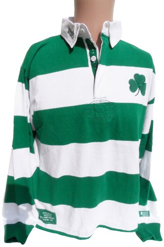 Donegal Bay Ireland Striped Rugby Shirt, X-Large