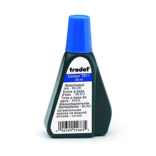 TRODAT Tinta para sellos 7011, 25 ml, color azul