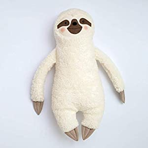 Wärmflaschen-Bezug Faultier von Petiti Panda, gefüttert, aus Baumwoll-Plüsch gefertigt