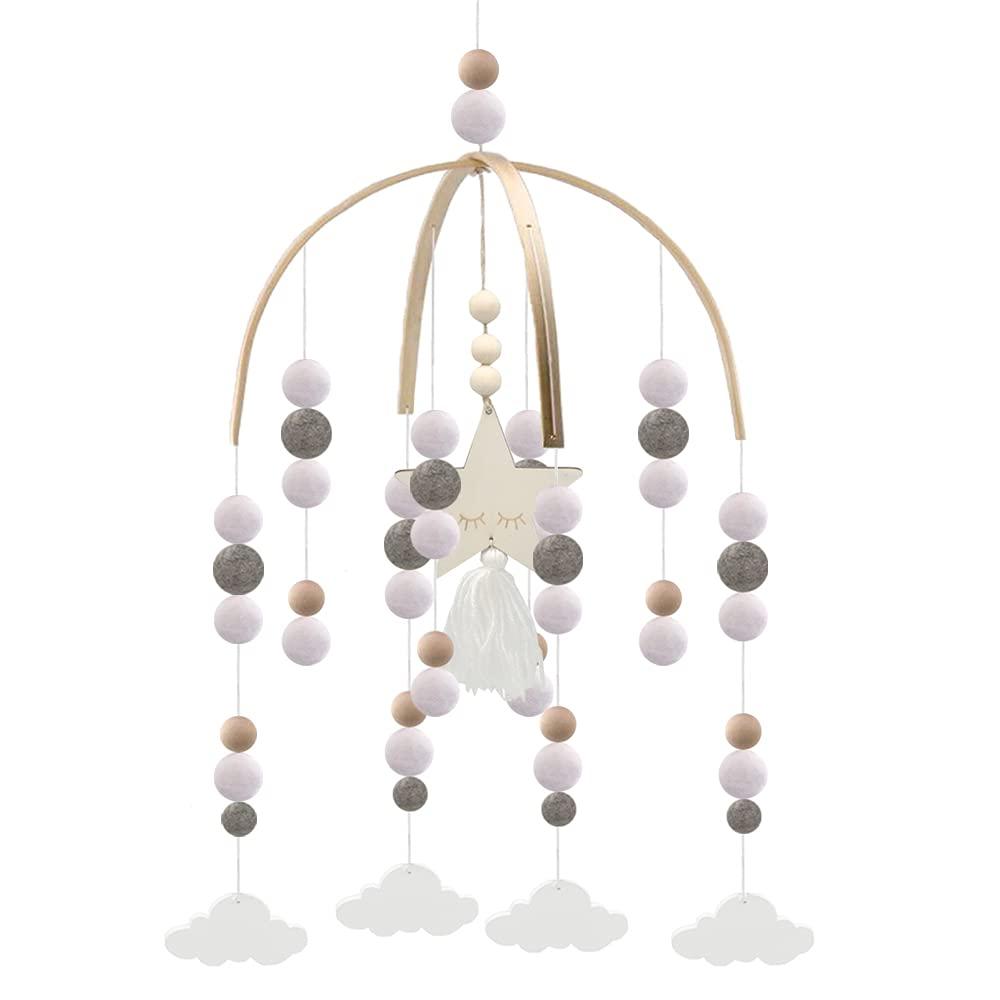 Mobiles Fort Worth Mall for Crib Wooden Nursery Baby Beads Handmade trust