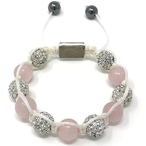 Shimla Jewellery SH-023S - Bracciale unisex con cristallo, acciaio inossidabile, 105 mm