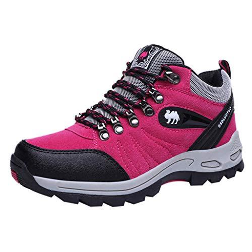 Damen Low Trekking- & Wanderhalbschuhe Traillaufschuhe,Wanderschuhe Wasserdicht Trekking Schuhe Herren Sports Gleitsicher Hiking Sneaker Outdoor Schuhe mit trittsicherer und gut dämpfender Sohle
