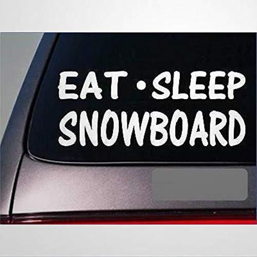 Eat Sleep Snowboard Sticker Vinyl Snow Ski Suit Rocky Mountains Stickers Car Decal Window Decal Vinyl Decal Die Cut Decals Funny Laptop Stickers Bumper Stickers Present