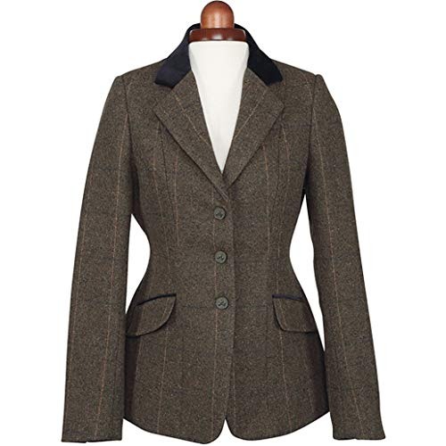 Shires Aubrion Saratoga Competition Tweed Jacket 38 inch Green Check