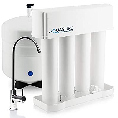 Aquasure Premier Advanced Alkaline Reverse Osmosis Drinking Water Filtration System with Quick Twist Lock - 75 GPD