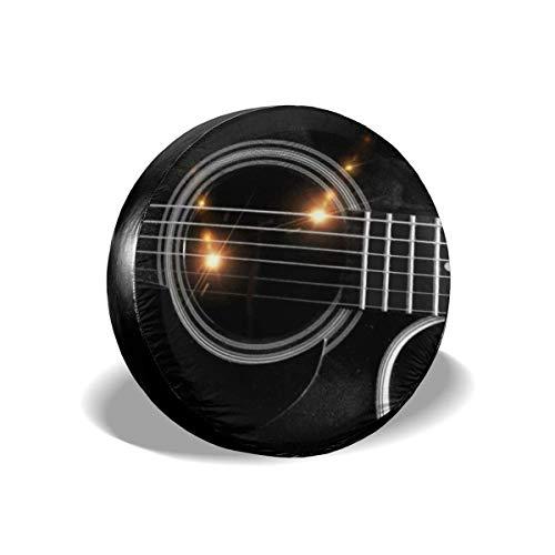 WCHAO Reifenabdeckung Schwarze Gitarrensaiten Reisewagen Universal Reserveradabdeckungen Protektoren Zubehör, trinkbar
