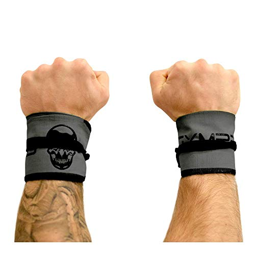 Gymreapers Strength Wrist Wraps for Cross Training, Olympic Lifting, Strength, WOD Workouts, Calisthenics - Strong Wrist Support for Men and Women - Fits All Wrist Sizes | Men and Women (Gray)