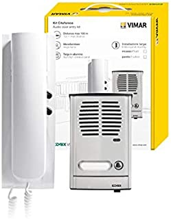 VIMAR 885G intercom 4+1 Conductor Single-Family 88TS + 8870, Withe