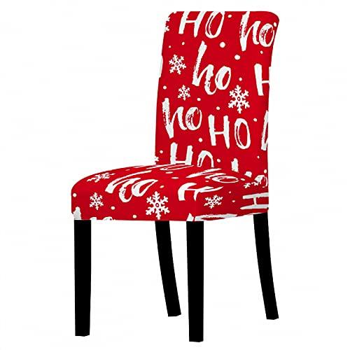 AIBABY Funda De Silla con Patrón De Dibujos Animados De Papá Noel, Funda De Silla De Navidad, Protección Antideslizante A Prueba De Polvo, Muebles Suaves Y Lavables