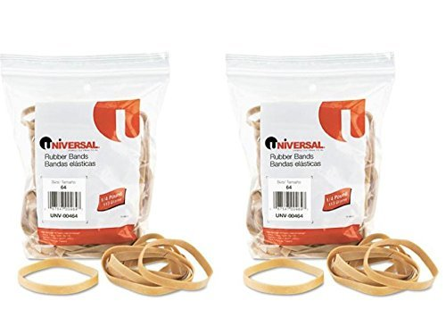 UNIVERSAL OFFICE PRODUCTS, Rubber Bands, Size 64, 3-1/2 x 1/4, 80 Bands 1/4 lb Pack