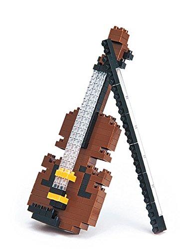 mugesh Nanoblock 3D-Puzzle Geige - Schönes Geschenk für Musiker