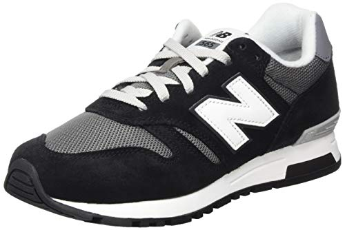 New Balance 565, Sneakers Basses Homme, Noir (Black/White), 44 EU