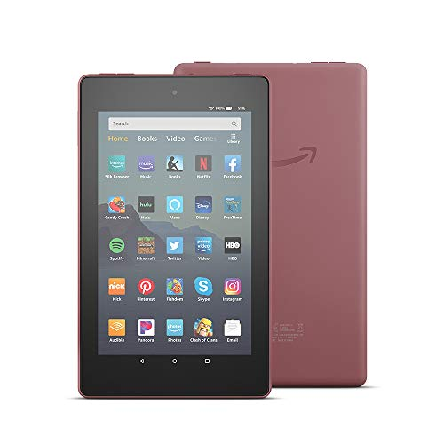 "Fire 7 Tablet (7"" display, 32 GB) - Plum"