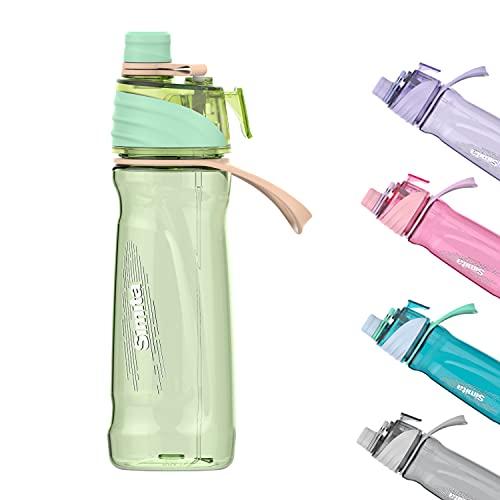 Borraccia da 650 ml con nebbia spray per idratazione all'aperto, ciclismo, arrampicata, escursionismo, alpinismo, palestra, verde