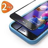 Bewahly Panzerglas Schutzfolie für iPhone 8 Plus / 7 Plus [2 Stück], 3D Full Screen Panzerglasfolie 9H Bildschirmschutzfolie mit Installation Werkzeug für iPhone 8 Plus / 7 Plus (5,5 Zoll) - Schwarz