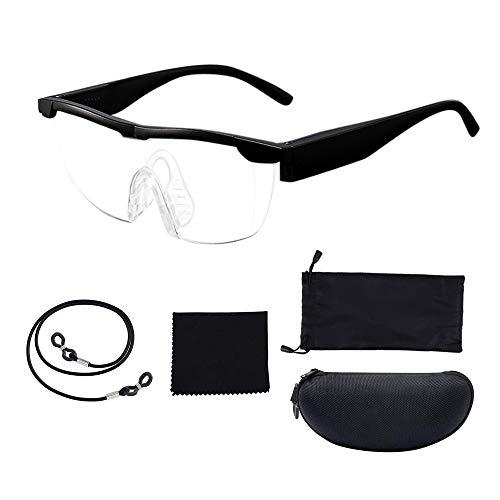 IWILCS Visuelle Lupen, Vision Lupen Brillen, Anti-Blaue Lupen 160% vergrößerungsbrille Zauberbrille Lupe Lupenbrille für Frauen Männer Kinder