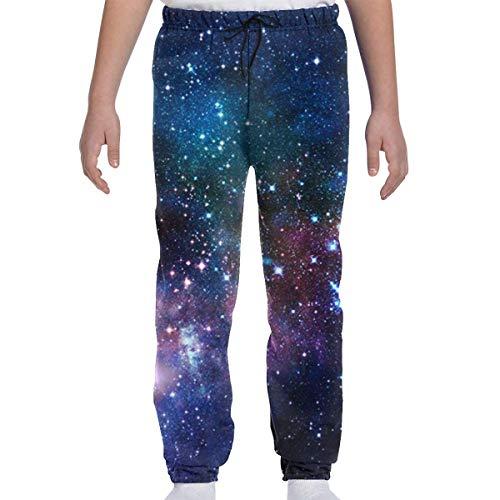 Yesbnow Jugend Jogginghose Jogging Bottom Sport oder Loungewear Hose, Galaxy Stary Trainingsanzug Bottoms für Jungen Mädchen Teenager