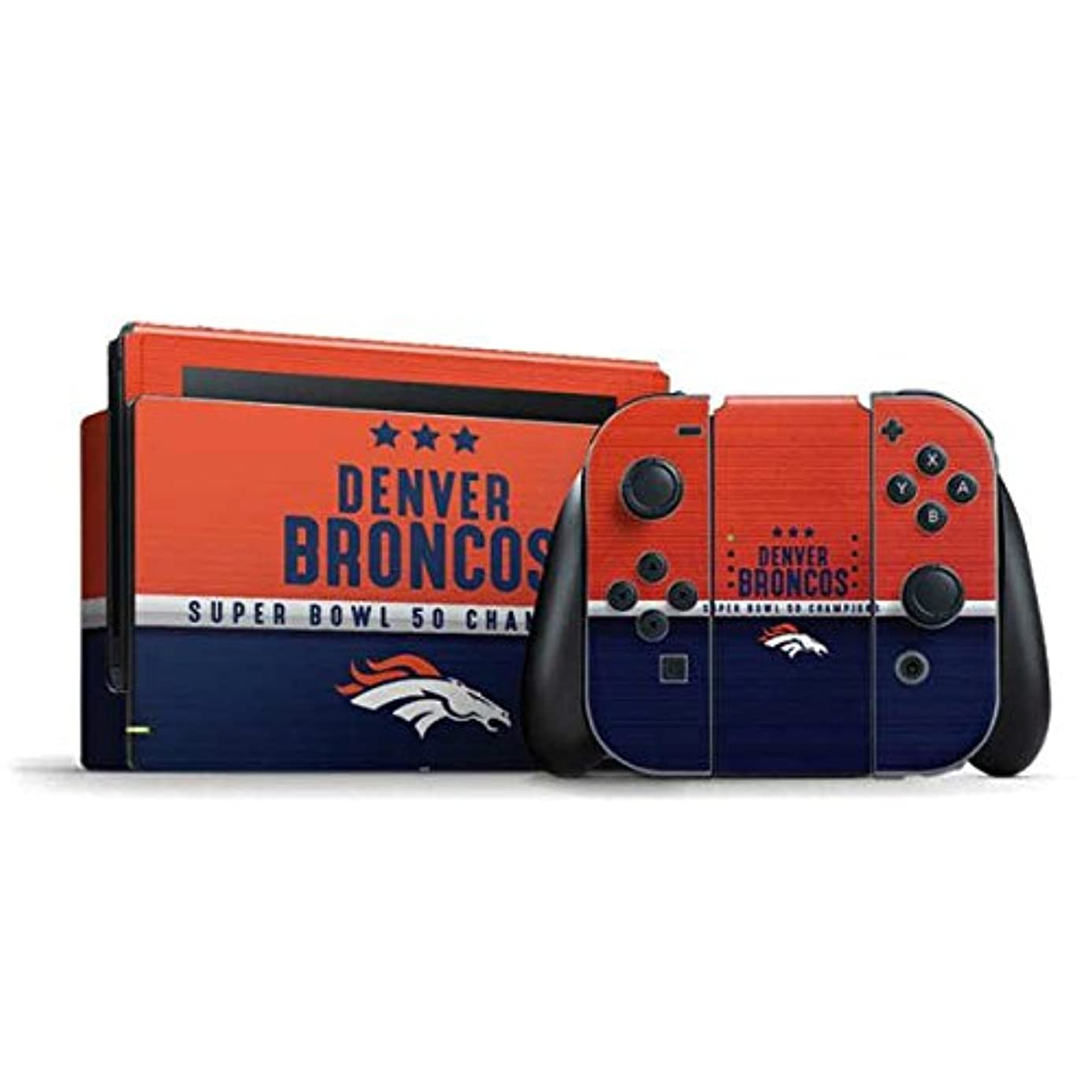 NFL Denver Broncos Nintendo Switch Bundle Skin - Denver Broncos Super Bowl 50 Champions Vinyl Decal Skin For Your Switch Bundle