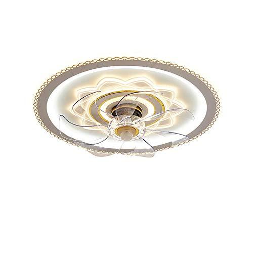 Iluminación De Ventilador Invisible LED 56W Lámpara Techo Moderna Con Regulable Función Sincronización Y Velocidad Del Viento Ajustable Para Dormitorio Sala Estar Infantil