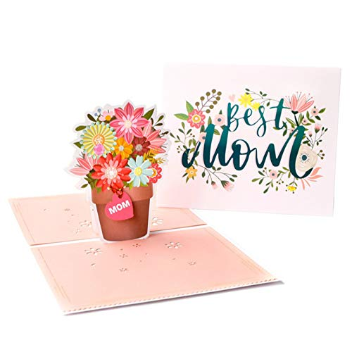 Heshan 3D Mothers Day Pops Up Cards Beautiful Flowers Card Card Thank Greeting Card for Mother