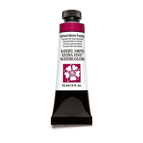 DANIEL SMITH Extra Fine Watercolor Paint, 15ml Tube, Quinacridone Fuchsia, 284600132