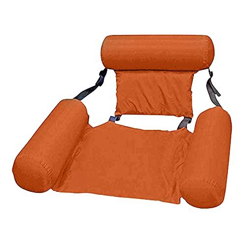 Aufblasbare Wasser Hängematte Pool Float Bed Lounger Stuhl Drifter für Swimmingpool Beach Holiday Party (Orange)