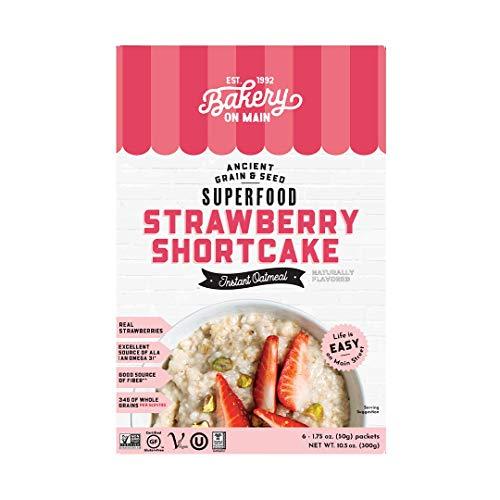 Bakery On Main, Gluten-Free Instant Oatmeal, Vegan & Non GMO - Strawberry Shortcake, 10.5oz (Pack of 1)