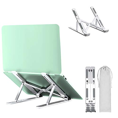 "Support Ordinateur Portable Laptop Stand, Support PC Portable Ventilé en Aluminium Réglable, Refroidisseur Ergonomique Léger Compatible avec MacBook, iPad Tous Les Ordinateurs Portables 10""~17.3"""