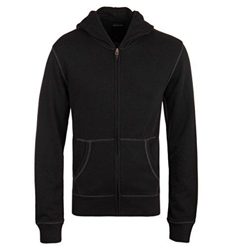 True Religion Black Skull Logo Full Zip Hooded Sweatshirt-MEDIUM