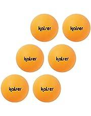 Kaiser(カイザー) 卓球 ボール 6P <ホワイト/オレンジ> 練習用