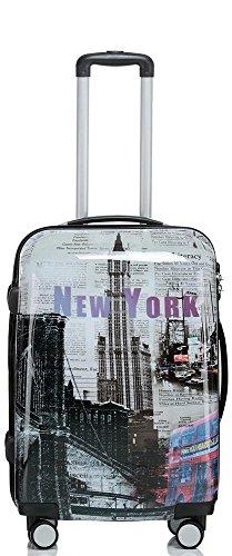 Valise avec coque rigide de voyage bagage trolley à 4...