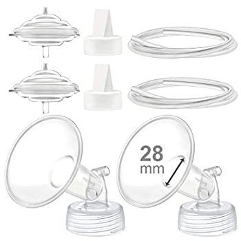 Maymom Pump Parts Compatible with Spectra S2 Spectra S1 Spectra 9 Plus Breastpump Incl 28mm Flange Valve Tubing Backflow Protector Not Original Spectra Pump Parts or Original Spectra S2 Accessories