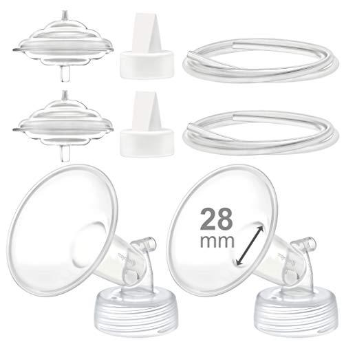 Maymom Piezas De La Bomba Compatibles Con El Sacaleches Spectra S2 Spectra S1 Spectra 9 Plus, Incluye Protector De Reflujo De Tubería De Válvula De Brida De 28 Mm