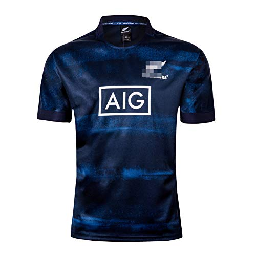 Männer Rugby Trikot, Neuseeland Maori Rugby T-Shirt 2019 All Black Heim Auswärts...