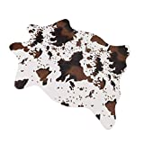 MustMat Cute Cow Print Rug Fun Faux Cowhide Area Rug Nice for Decorating Kids Room 29.5' W x 43.3' L