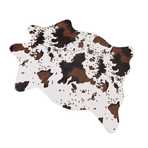"MustMat Cute Cow Print Rug Fun Faux Cowhide Area Rug Nice for Decorating Kids Room 29.5"" W x 43.3"" L"